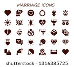 marriage icon set. 30 filled... | Shutterstock .eps vector #1316385725
