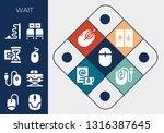 wait icon set. 13 filled wait... | Shutterstock .eps vector #1316387645
