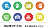 college icon set. 8 filled... | Shutterstock .eps vector #1316388092