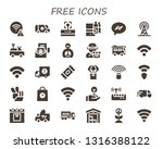 free icon set. 30 filled free... | Shutterstock .eps vector #1316388122