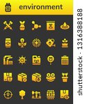 environment icon set. 26 filled ... | Shutterstock .eps vector #1316388188