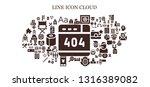 line icon set. 93 filled line... | Shutterstock .eps vector #1316389082