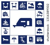 resort icon set. 17 filled... | Shutterstock .eps vector #1316389502