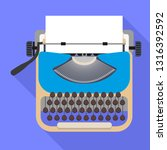 typewriter icon. flat... | Shutterstock .eps vector #1316392592