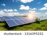 solar panel  photovoltaic ... | Shutterstock . vector #1316395232