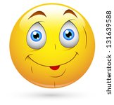 smiley illustration   cute... | Shutterstock . vector #131639588