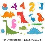 funny cartoon silhouettes of... | Shutterstock .eps vector #1316401175