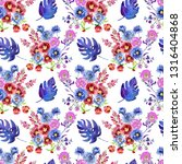seamless pattern with flowers... | Shutterstock . vector #1316404868