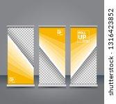 vector orange roll up banner...   Shutterstock .eps vector #1316423852
