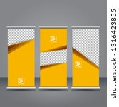 vector orange roll up banner...   Shutterstock .eps vector #1316423855