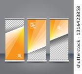 vector orange roll up banner...   Shutterstock .eps vector #1316423858