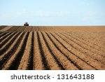 A Tractor Working Planting...