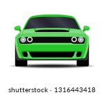 realistic car. muscle car.... | Shutterstock .eps vector #1316443418