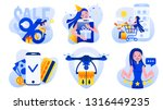 flat illustrations set of the...