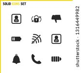 interface icons set with switch ...