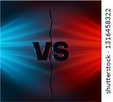 versus   confrontation  red and ... | Shutterstock .eps vector #1316458322