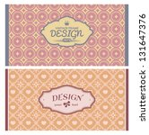 set of card in retro style.... | Shutterstock .eps vector #131647376