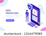 data protection officer concept.... | Shutterstock .eps vector #1316479085