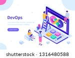 devops at work concept. can use ... | Shutterstock .eps vector #1316480588