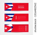 set of three horizontal banners ... | Shutterstock .eps vector #1316482562