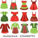 a set of dresses for a little... | Shutterstock .eps vector #1316483792