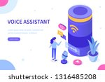 voice assistance concept. can... | Shutterstock .eps vector #1316485208