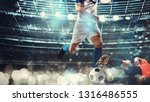 close up of a football action...   Shutterstock . vector #1316486555