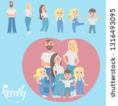 a happy family. father  mother  ...   Shutterstock .eps vector #1316493095