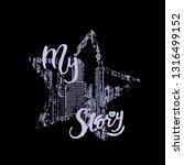 typography slogan for t shirt... | Shutterstock .eps vector #1316499152