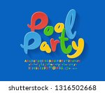 vector colorful banner pool... | Shutterstock .eps vector #1316502668