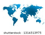 colorist map of the world... | Shutterstock . vector #1316513975