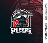 sniper vector mascot logo... | Shutterstock .eps vector #1316532398