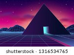 ancient mysterious pyramid in... | Shutterstock .eps vector #1316534765