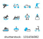 vintage toy icons in duo tone...