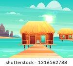 comfortable wooden bungalows... | Shutterstock .eps vector #1316562788