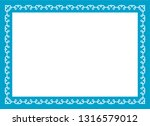 blue photo picture art border... | Shutterstock .eps vector #1316579012