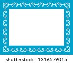 blue photo picture art border... | Shutterstock .eps vector #1316579015