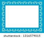 blue photo picture art border... | Shutterstock .eps vector #1316579015