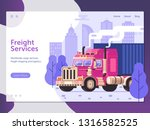 city freight services website... | Shutterstock .eps vector #1316582525
