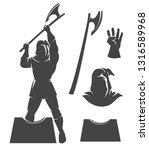 the executioner silhouettte... | Shutterstock .eps vector #1316589968