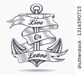 nautical vintage tattoo of... | Shutterstock .eps vector #1316590715