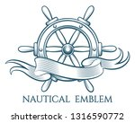 engraving style tattoo of ship... | Shutterstock .eps vector #1316590772
