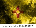new mexico state grunge flag ... | Shutterstock . vector #1316595725