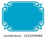 blue simple vector vintage... | Shutterstock .eps vector #1316598488