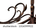beautiful decorative metal... | Shutterstock . vector #1316599922
