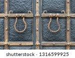 beautiful decorative metal... | Shutterstock . vector #1316599925