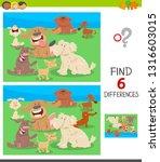 cartoon illustration of finding ... | Shutterstock .eps vector #1316603015