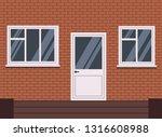 vector white plastic closed... | Shutterstock .eps vector #1316608988