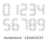 white digital numbers with...   Shutterstock .eps vector #1316613215