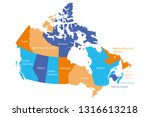 map of canada divided into 10...   Shutterstock .eps vector #1316613218